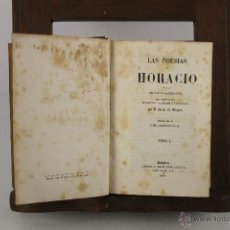Libros antiguos: 4378- LAS POESIAS DE HORACIO. JAVIER DE BURGOS. LIB. JOSE CUESTA. 1844. 2 T. 1 VOL. . Lote 41299465