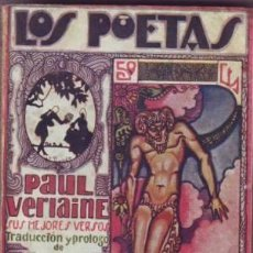 Libros antiguos: VERLAINE, PAUL: SUS MEJORES VERSOS. . Lote 41301661