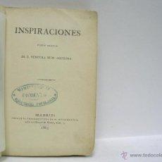 Libros antiguos: VENTURA RUIZ AGUILERA. INSPIRACIONES. 1865. Lote 41566183