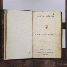 Libros antiguos: D-083. ENSAYOS POETICOS. JUAN BAUTISTA DE ARRIAZA. EDIT. MIGUEL DOMINGO. 1811. . Lote 41801450