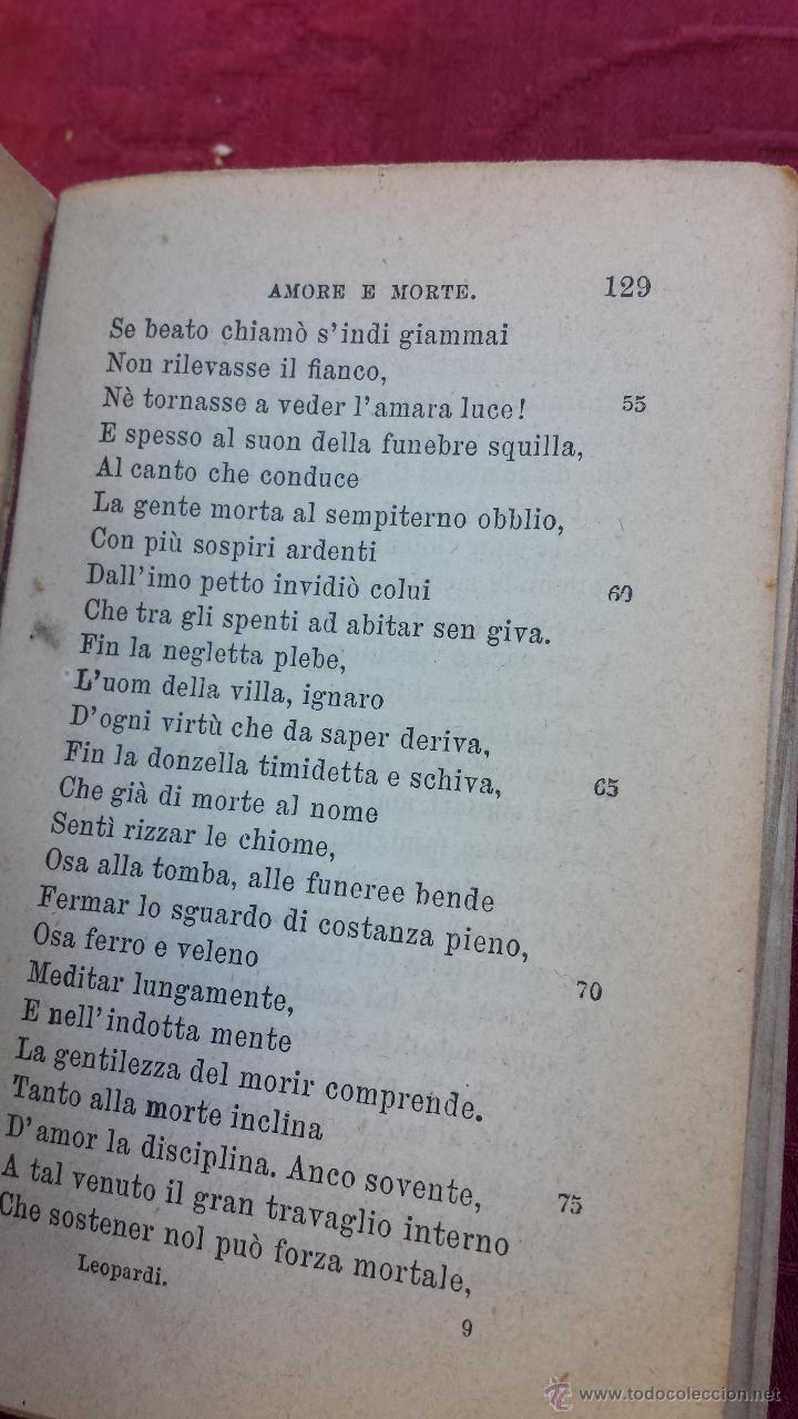 Libros antiguos: 1900.- LE POESIE. GIACOMO LEOPARDI - Foto 5 - 41843828