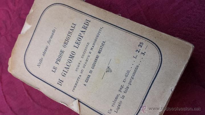 Libros antiguos: 1900.- LE POESIE. GIACOMO LEOPARDI - Foto 6 - 41843828