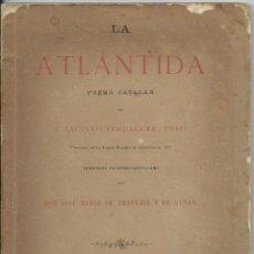 Libros antiguos: LA ATLANTIDA. JACINTO VERDAGUER. Lote 42787912