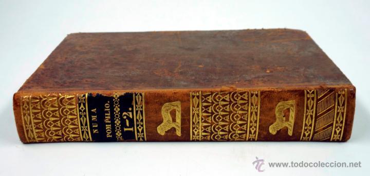 Libros antiguos: Numa pompilio segundo rey de roma, poema del caballero florian, tomo 1 y 2. año 1828. 14,5x9cm. - Foto 2 - 43449335