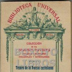 Libros antiguos: BIBLIOTECA UNIVERSAL. TOMO 17. TESORO DE LA POESÍA CASTELLANA. SIGLO XVI. Lote 43655935