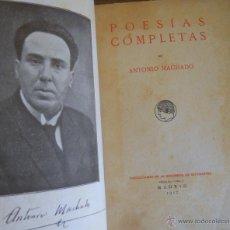 Libros antiguos: ANTONIO MACHADO : POESÍAS COMPLETAS. RESIDENCIA DE ESTUDIANTES, MADRID , 1917. Lote 44670569