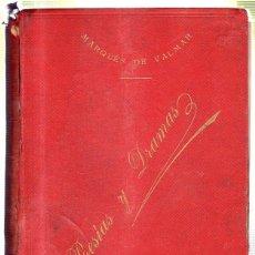 Libri antichi: POESIAS LIRICAS Y DRAMATICAS. EXCMO. SR. D. LEOPOLDO A. DE CUETO. 1903. Lote 45198102