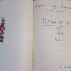 Livros antigos: LIBRO DE POESIAS INEDITO MANUSCRITO POETA GRANADA CARMEN LUZON SANTOS PEREZ DE FAJARDO. Lote 45348003