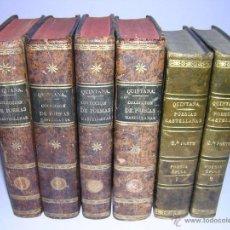 Libros antiguos: 1830 - MANUEL JOSEF QUINTANA - POESIAS SELECTAS CASTELLANAS + MUSA ÉPICA - 6 TOMOS (OBRA COMPLETA). Lote 46634043