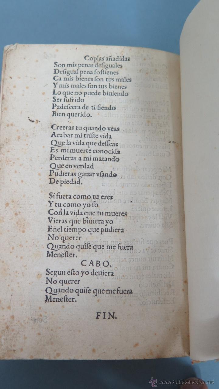 Libros antiguos: 1552.- TODAS LAS OBRAS DEL FAMOSISSIMO POETA IUAN DE MENA: con la glosa del comendador Fernan Nuñez - Foto 7 - 47415298