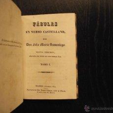 Libros antiguos: FABULAS EN VERSO CASTELLANO, FELIX MARIA SAMANIEGO. Lote 47577650