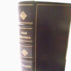 Libros antiguos: POESIES. VOL 1. MARAGALL, JOAN. 1929. Lote 48024630