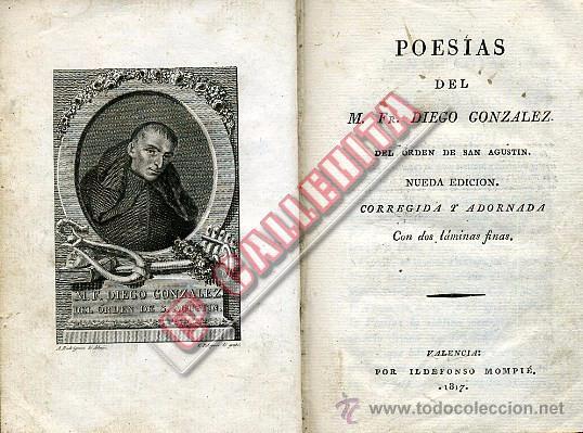 Libros antiguos: Poesías del M. Fr. Diego González. Valencia 1817. - Foto 5 - 48637276