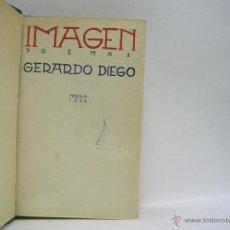 Libros antiguos: GERARDO DIEGO. IMAGEN. PRIMERA EDICIÓN RARA. Lote 48896972