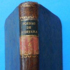 Libros antiguos: POESÍAS SELECTAS CASTELLANAS. MAUEL JOSEF QUINTANA.TOMO IV. MADRID, 1817.. Lote 49278063