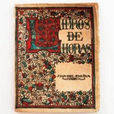Libros antiguos: LIBROS DE HORAS. JUAN DEL ENCINA.BIBLIOTECA CORONA. ENCUADERNACIÓN EN PERGAMINO. Lote 49601974