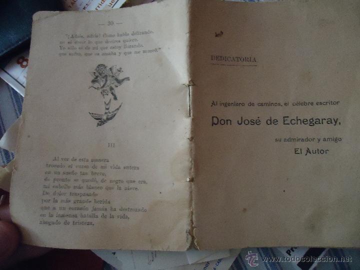 Libros antiguos: DEDICATORIA INGENIERO DE CAMINOS DON JOSE DE ECHEGARAY , CANTO POESIA 30 PAGINAS - Foto 2 - 49950698