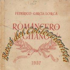 Alte Bücher - ROMANCERO GITANO, FEDERICO GARCIA LORCA, EDITORIAL NUESTRO PUEBLO, EDICION HOMENAJE POPULAR, 1937 - 50339652