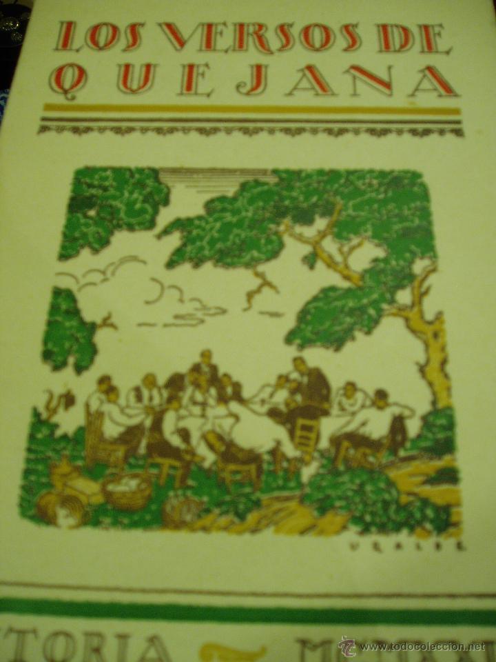 LOS VERSOS DE QUEJANA VITORIA. MCMXXIII. SÁENZ DE QUJANA. (Libros antiguos (hasta 1936), raros y curiosos - Literatura - Poesía)