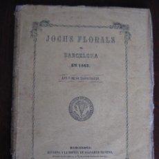 Libros antiguos: JOCHS FLORALS DE BARCELONA AÑO 5 DE LA RESTAURACIÓN 1863. Lote 50728824