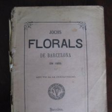 Libros antiguos: JOCHS FLORALS DE BARCELONA AÑO 7 DE LA RESTAURACIÓN 1865. Lote 50729577