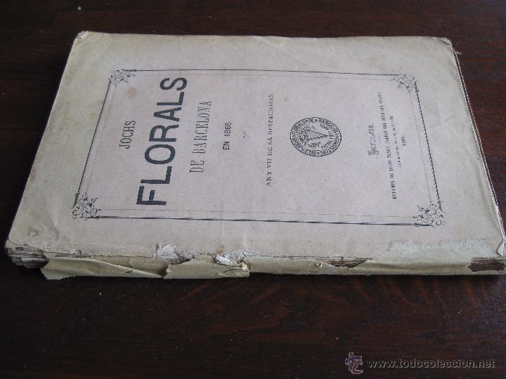Libros antiguos: JOCHS FLORALS DE BARCELONA AÑO 7 DE LA RESTAURACIÓN 1865 - Foto 2 - 50729577