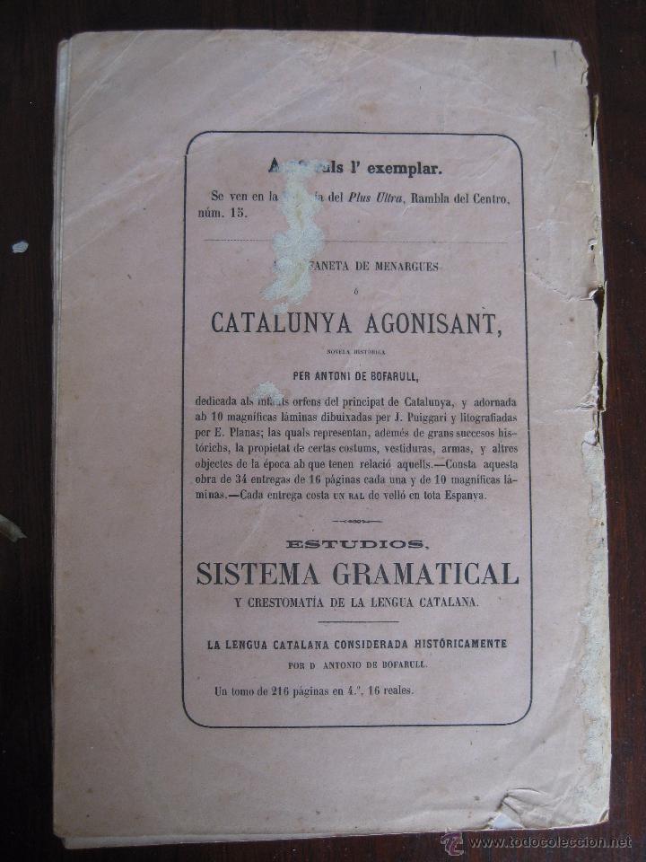 Libros antiguos: JOCHS FLORALS DE BARCELONA AÑO 7 DE LA RESTAURACIÓN 1865 - Foto 3 - 50729577