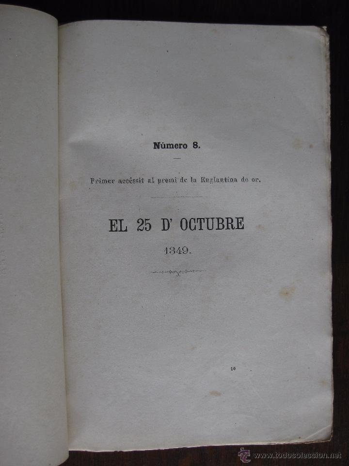 Libros antiguos: JOCHS FLORALS DE BARCELONA AÑO 7 DE LA RESTAURACIÓN 1865 - Foto 5 - 50729577