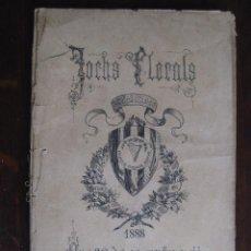 Libros antiguos: JOCHS FLORALS DE BARCELONA AÑO 30 DE LA RESTAURACIÓN 1888. Lote 50730622