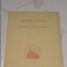 Libros antiguos: PRIMERES POESIES DE MIQUEL COSTA I LLOBERA. Lote 51005685