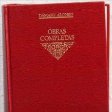 Libros antiguos: DÁMASO ALONSO, OBRAS COMPLETAS, TOMO III. ESTUDIOS Y ENSAYOS SOBRE LITERATURA (SEGUNDA PARTE), EDITO. Lote 51319471