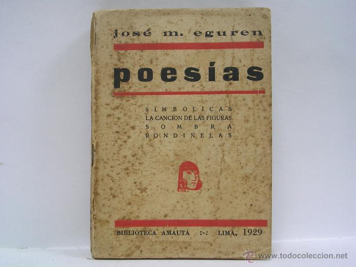 JOSÉ MARÍA EGUREN. POESÍAS. 1929. VANGUARDIAS. MUY RARO (Libros antiguos (hasta 1936), raros y curiosos - Literatura - Poesía)