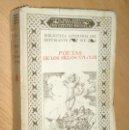 Libros antiguos: POETAS DE LOS SIGLOS XVI Y XVII - INSTITUTO ESCUELA 1933. Lote 52373424