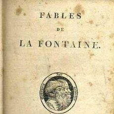 Livros antigos: FABLES DE LA FONTAINE - PARIS, STÉRÉOTYPE DHERHAN DE LIMPRIMERIE DE A. BELIN, 1813. Lote 52391623