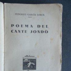 Libros antiguos: 'POEMA DEL CANTE JONDO' FEDERICO GARCIA LORCA.¡¡1ª EDICION!! ED.ULISES 1931 ¡¡NO TIENE CUBIERTAS!!. Lote 52476622