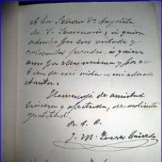 Libros antiguos: ANTIGUO Y ELEGANTE TOMO DEL COLOMBIANO TORRES CALCEDO FIRMADO POR EL AUTOR.. Lote 52729501