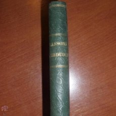 Libros antiguos: CANSONS PERDUDES. POESIES PER MOSSEN ANTON NAVARRO.. Lote 52748727