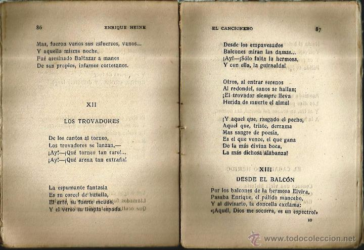 Libros antiguos: REGALA LECTURA. -EL CANCIONERO- de ENRIQUE HEINE - Foto 2 - 53003210