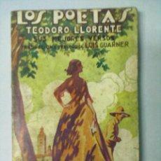 Libros antiguos: LOS POETAS TEODORO LLORENTE SUS MEJORES VERSOS. Lote 53256150