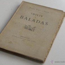 Libros antiguos: IDILIS I BALADES - MANEL RIBOT I SERRA 1887. Lote 53801227