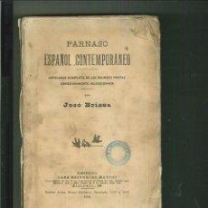 Libros antiguos: PARNASO ESPAÑOL CONTEMPORÁNEO. JOSÉ BRISSA. Lote 53819477