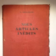 Libros antiguos: NOUS ARTICLES INEDITS. 1926. AGUSTI ESCLASANS. DIBUJOS ORIGINAL R.BENET. Lote 67605217