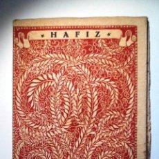 Libros antiguos: HAFIZ. INTONSO. LAS MEJORES POESIAS (LIRICAS) DE LOS MEJORES POETAS. Lote 54158042
