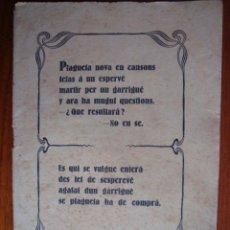Libros antiguos: GLOSES DEN PEP PERELLÓ, GARRIGUER DE MARINA VEY. ALGAIDA. MALLORCA. 1927.. Lote 54210455