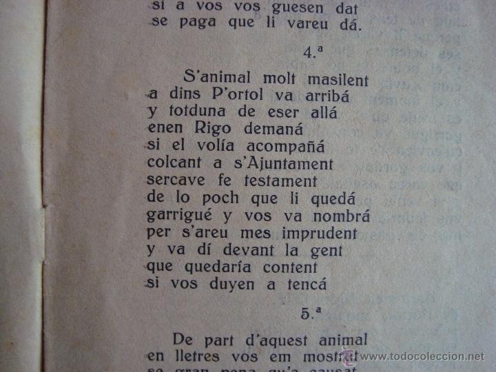 Libros antiguos: GLOSES DEN PEP PERELLÓ, GARRIGUER DE MARINA VEY. ALGAIDA. MALLORCA. 1927. - Foto 3 - 54210455
