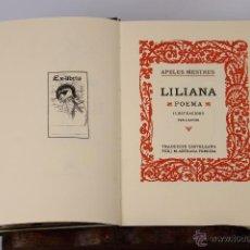 Libros antiguos: 6410 - LILIANA. APELES MESTRES. EDITORIAL AUSA. 1989.. Lote 49634174