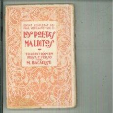 Libros antiguos: LOS POETAS MALDITOS. PAUL VERLAINE. Lote 132638741