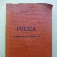 Libros antiguos: POEMA. ANTIGÜEDADES DE LAS ISLAS AFORTUNADAS. ANTONIO DE VIANA. 1905.. Lote 54945034