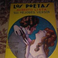 Libros antiguos: LOS POETAS (ALBERTO LISTA). Lote 55230379