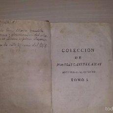 Libros antiguos: COLECCION DE POESIAS CASTELLANAS ANTERIORES AL SIGLO XV. TOMO I (1779). Lote 55410447
